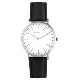 BLANCC Horloge Classic Zilver 40mm Leer Zwart