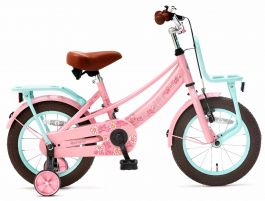 Popal Lola Meisjesfiets 14 inch - Roze Turquoise