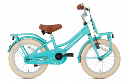 SuperSuper Cooper Meisjesfiets 16 inch - Turquoise