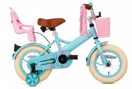SuperSuper Little Miss Meisjesfiets 12 inch - Turquoise