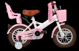 SuperSuper Little Miss Meisjesfiets 12 inch - Wit