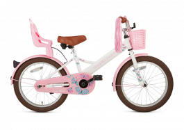 SuperSuper Little Miss Meisjesfiets 18 inch - Wit