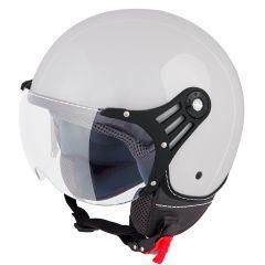 Vinz Stelvio grijs jethelm fashionhelm scooterhelm motorhelm vooraanzicht