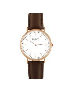 BLANCC Horloge Classic 40mm Leer Bruin