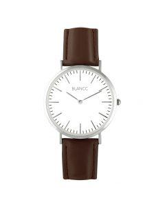 Blancc Classic Leer Bruin Horloge - Roze Goud