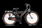 Popal Funjet X Jongensfiets 24 inch - Mat Zwart / Oranje